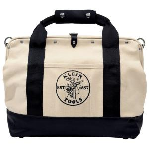 Klein Tools 18 inch Leather-Bottom Canvas Tool Bag by Klein Tools