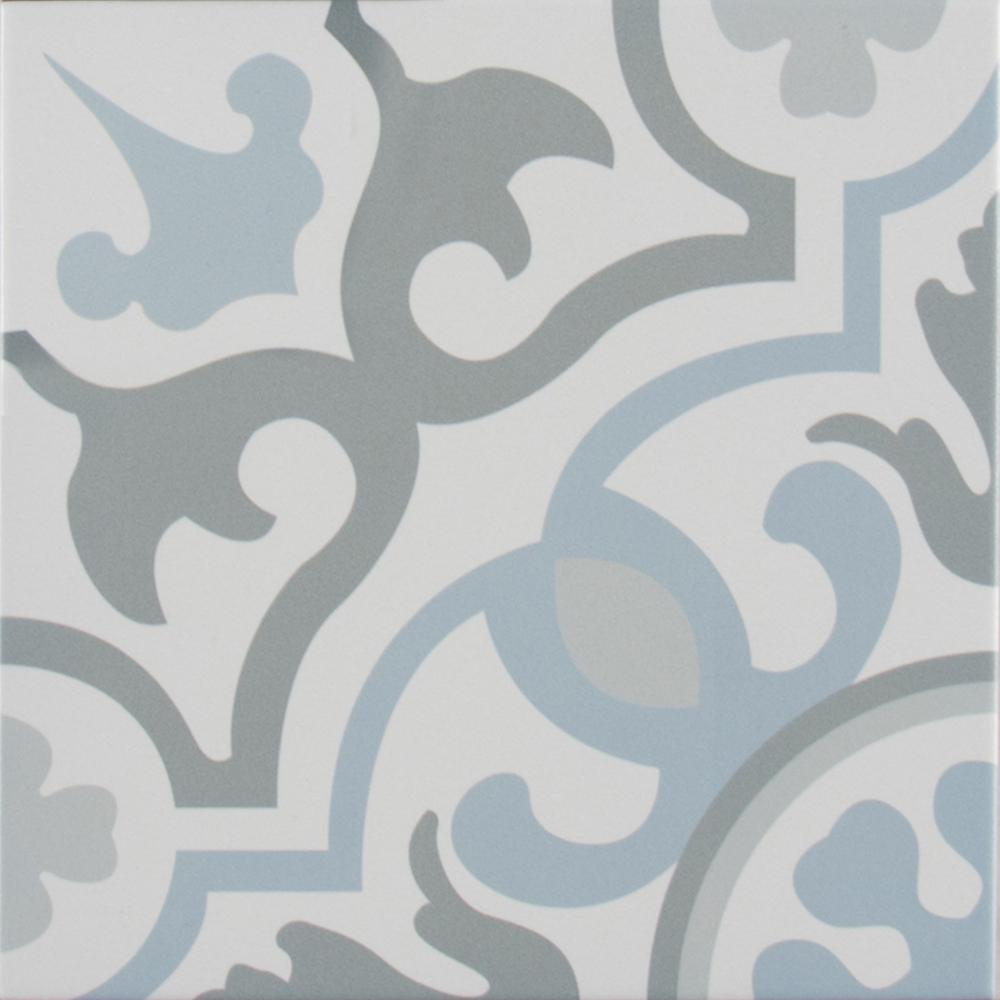 Blume Encaustic 8 in. x 8 in. Glazed Porcelain Floor and