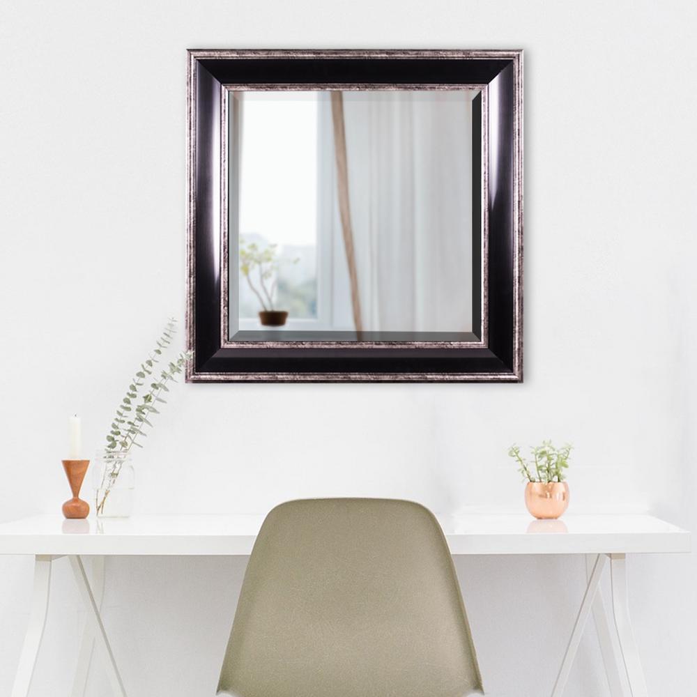 Hartley Square Black Vanity Mirror