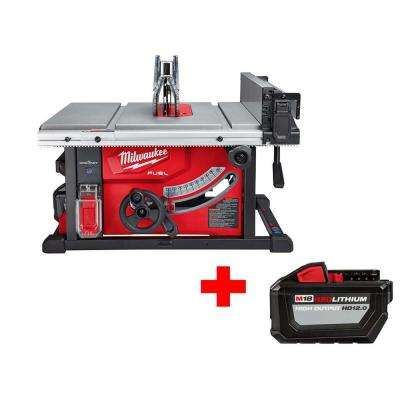 M18 FUEL ONE-KEY 18-Volt Lithium-Ion Brushless Cordless 8-1/4 in. Table Saw Kit with Free High Output 12.0Ah Battery