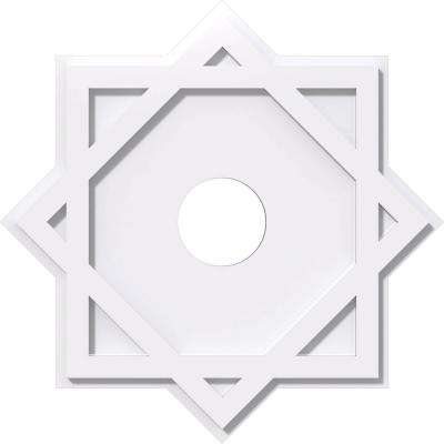 20 in. OD x 4 in. ID x 1 in. P Axel Architectural Grade PVC Contemporary Ceiling Medallion