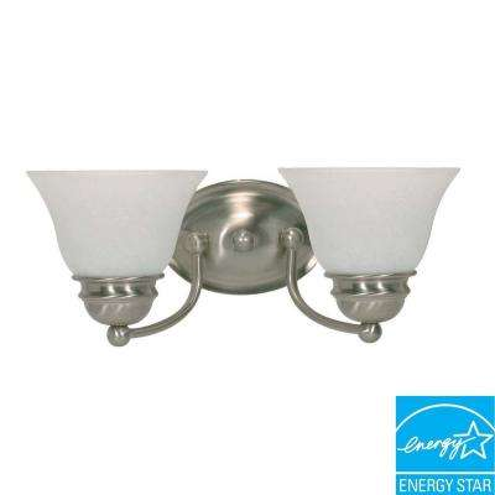 2-Light Brushed Nickel Wall Vanity Light