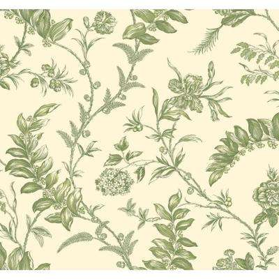 Williamsburg Solomon's Seal Wallpaper