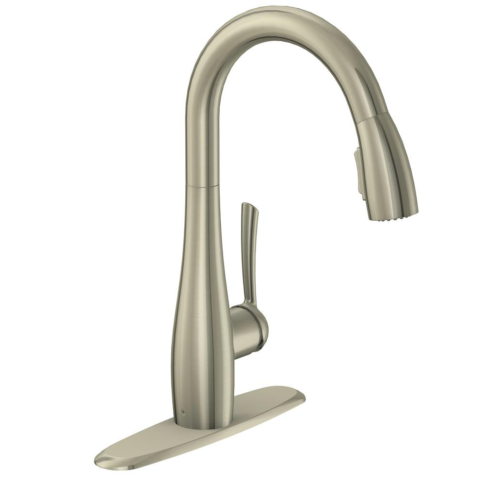 GLACIER BAY Analiese Single-Handle Pull-Down Sprayer Kitchen Faucet in Stainless