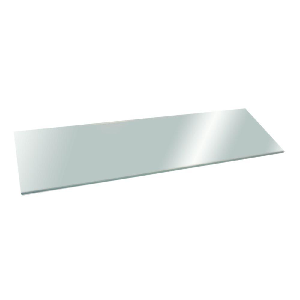 Home Decorators Collection 8 in. x 24 in. Opaque Glacier Glass Shelf ...