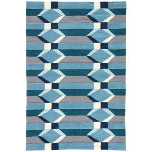 Jaipur Rugs Aegean Blue 2 ft. x 3 ft. Geometric Indoor/Outdoor Accent Rug by Jaipur Rugs