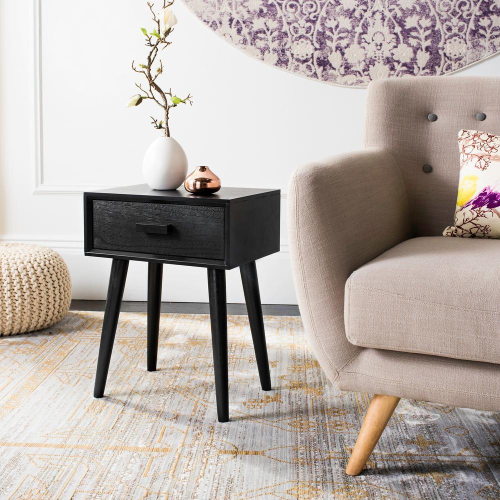 Safavieh Lyle Black Storage Side Table ACC5702D