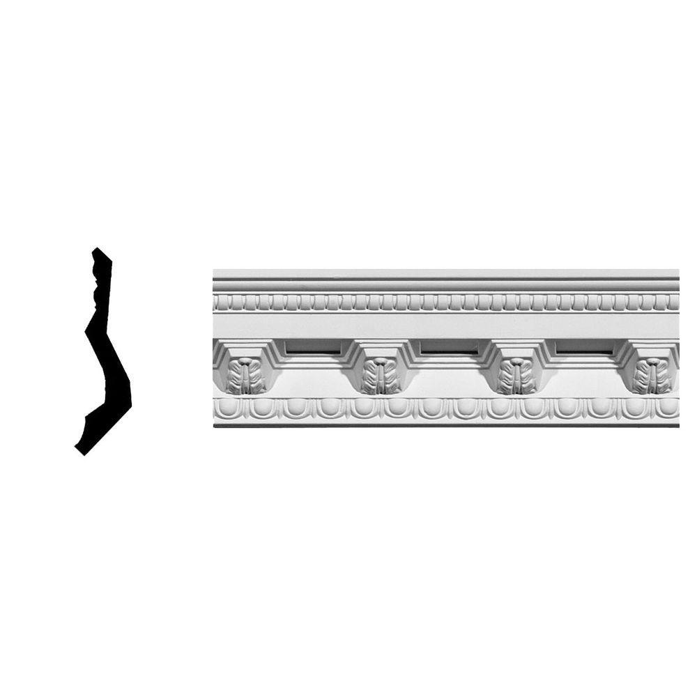 3-5/8 in. x 3-7/8 in. x 94-1/2 in. Polyurethane Attica Crown Moulding