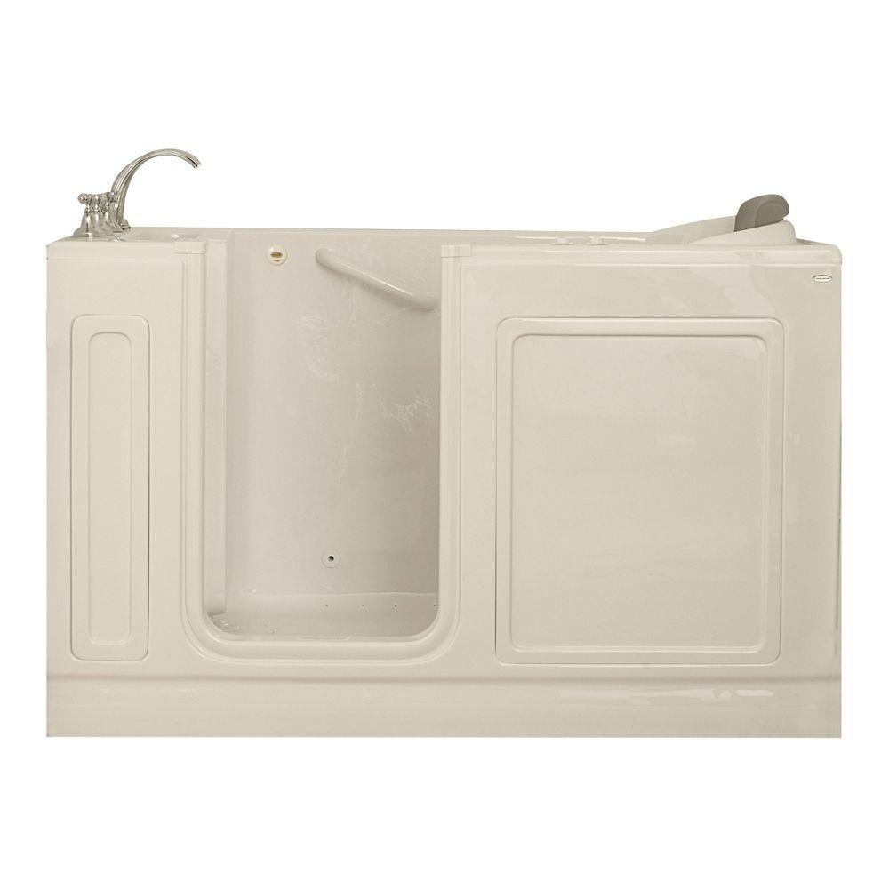 American Standard Acrylic Standard Series 60 in. x 32 in. Walk-In Whirlpool and Air Bath Tub with Quick Drain in Linen