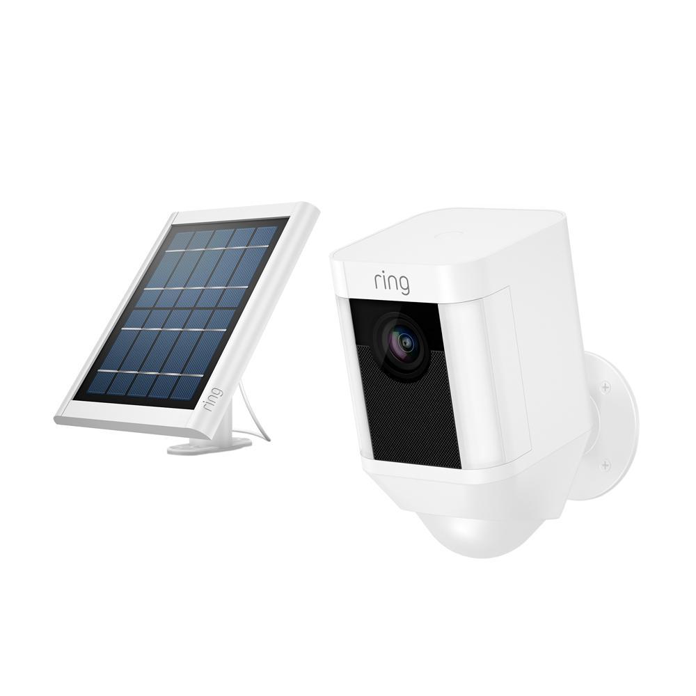 Spotlight Cam Solar Outdoor Security Wireless Standard Surveillance Camera in White