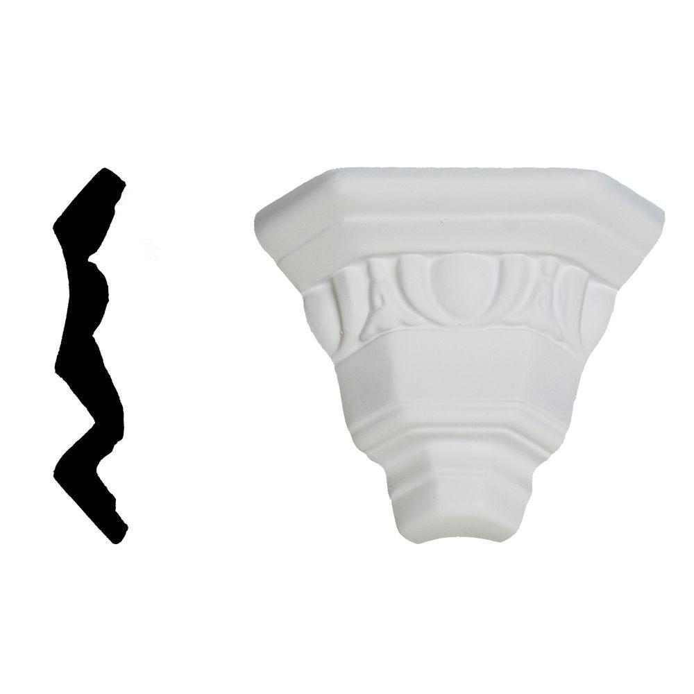 Lynea Molding Egg and Dart Collection 4-1/8 in. x 3-1/8 in. x 3-1/8 in. Composite Crown Outside Corner Moulding-DISCONTINUED