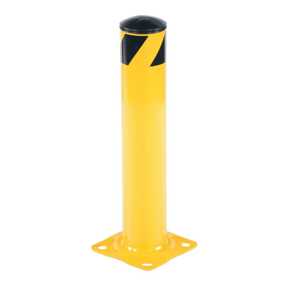 24 in. X 4.5 in. Yellow Steel Pipe Safety Bollard