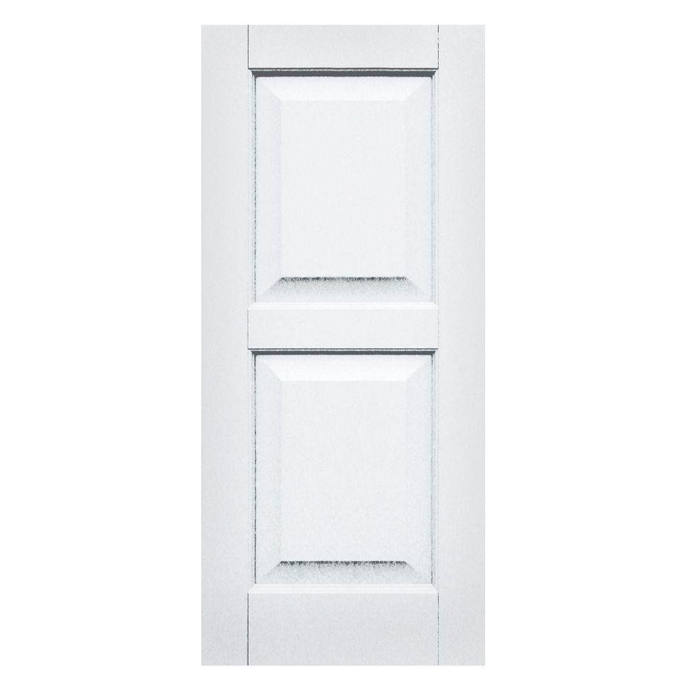 Winworks Wood Composite 15 in. x 34 in. Raised Panel Shutters Pair #631 White