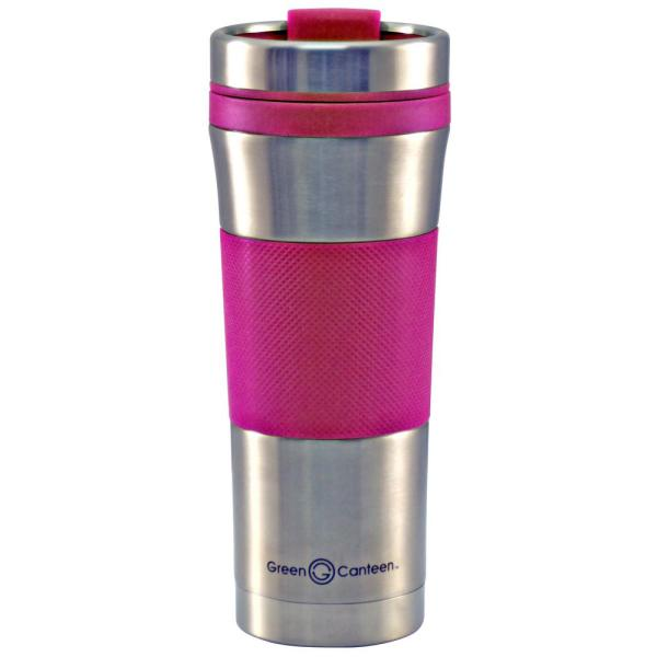 78f68f81e99 16 oz. Stainless Steel Double Wall Travel Mug with Pink Wrap (6-Pack)