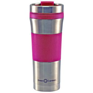Green Canteen 16 oz. Stainless Steel Double Wall Travel Mug with Pink Wrap... by Green Canteen