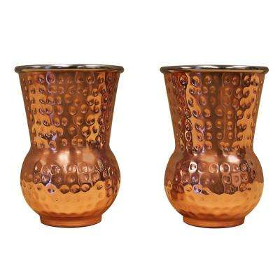 Hammered Copper Whiskey Tumblers (Set of 2)