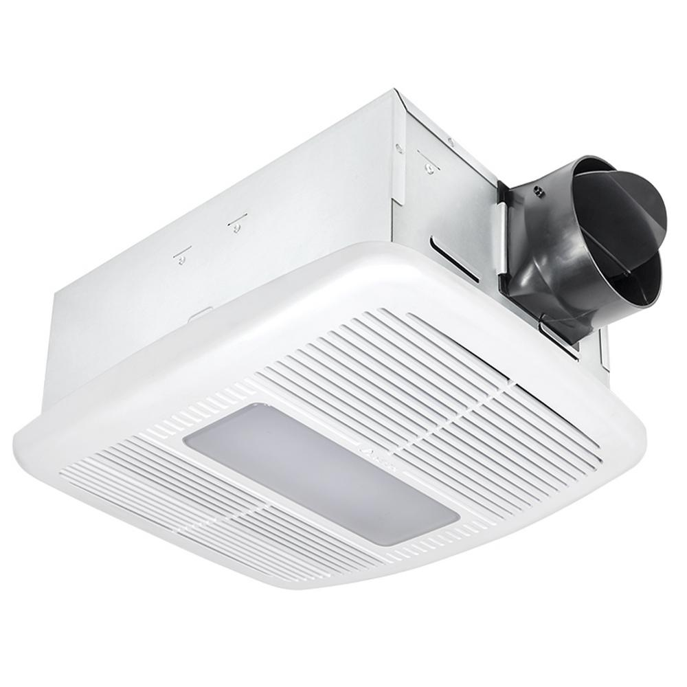 Nutone invent series 80 cfm ceiling exhaust bath fan with for Bathroom exhaust fan with led light