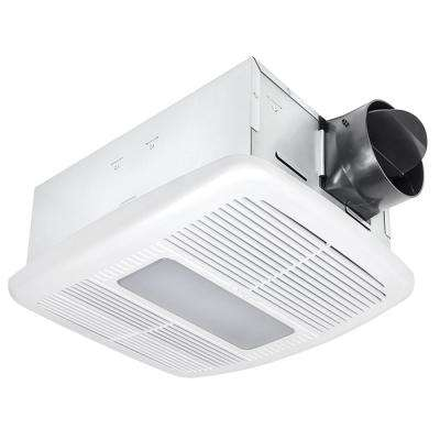 Radiance Series 80 CFM Ceiling Exhaust Bath Fan with Dimmable LED Light and Heater
