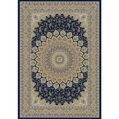 Lawrence Navy 7 ft. x 10 ft. Indoor Area Rug
