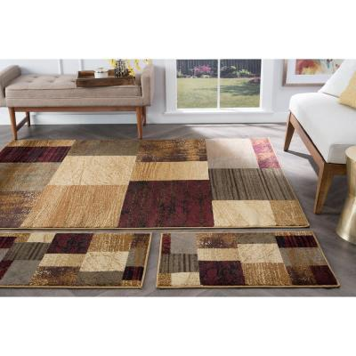 Elegance Multi 5 ft. x 7 ft. 3-Piece Rug Set