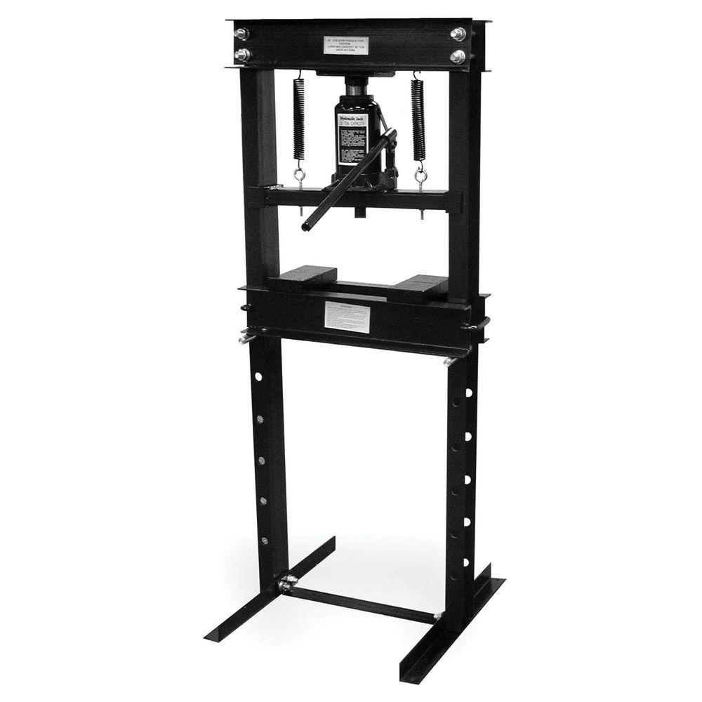 BLACK BULL 20 Ton Heavy-Duty Steel Construction Shop Press