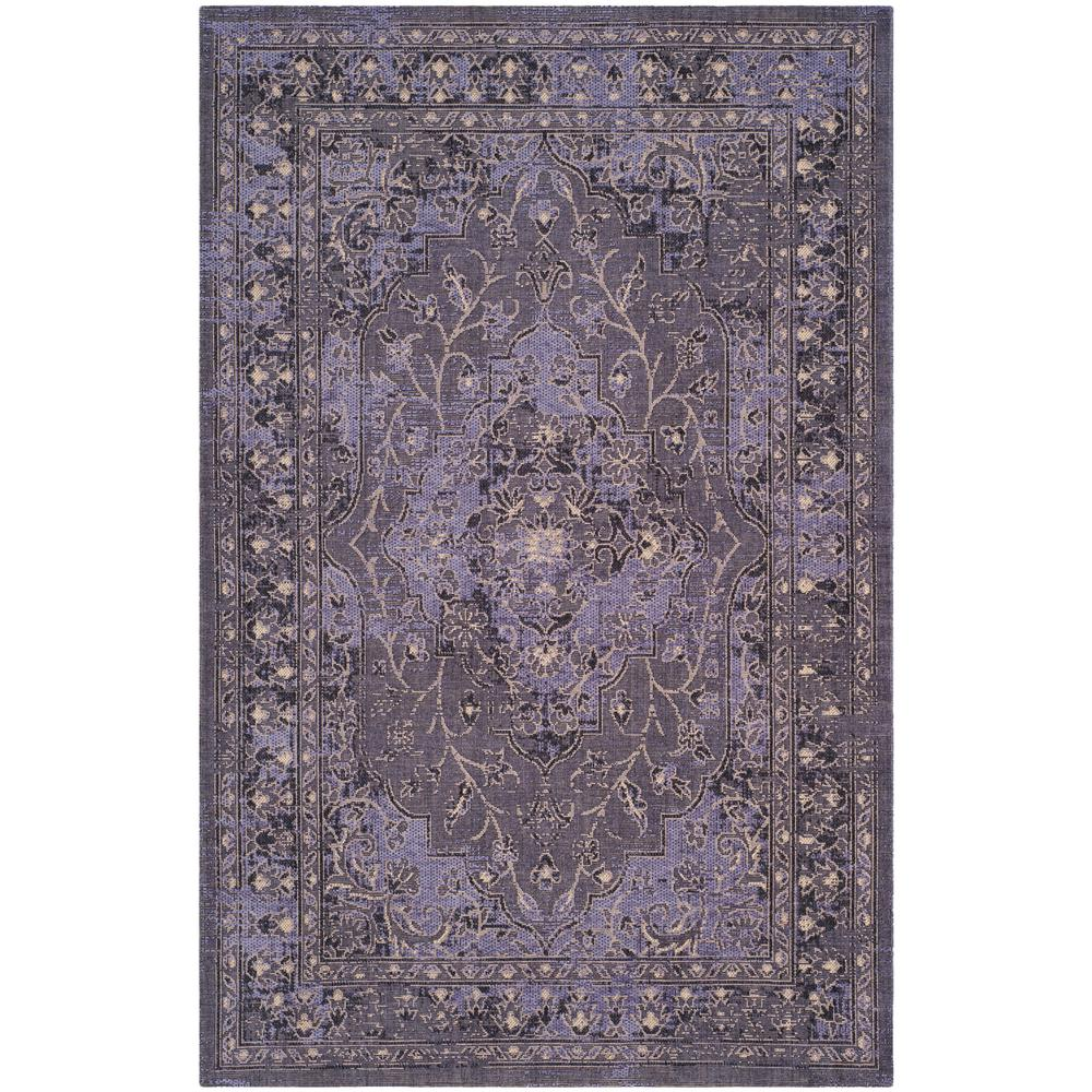 Safavieh Palazzo Purple Black 5 Ft X 8 Ft Area Rug Pal128 9073 5