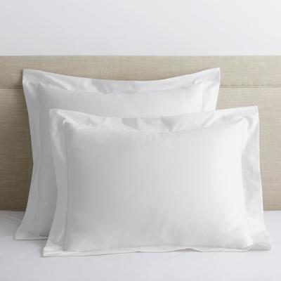 White Solid 300 Thread Count Bamboo Cotton Sateen Standard Sham