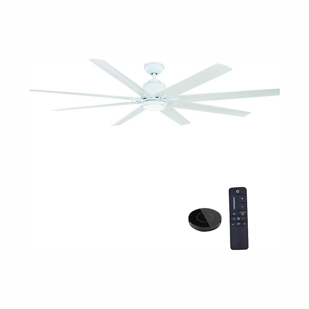 Home Decorators Collection Kensgrove 72 in. LED Indoor White Ceiling Fan  with Light Kit works with Google Assistant and Alexa
