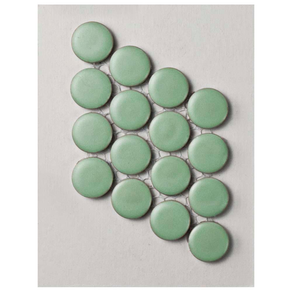 Metro Penny Matte Light Green Porcelain Mosaic Tile - 3 in. x 4 in. Tile Sample