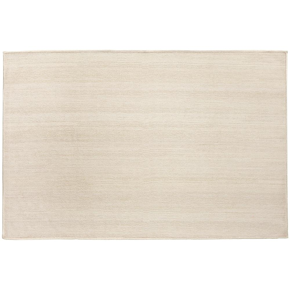 Ruggable Washable Solid Textured Cream 3 Ft X 5 Ft Stain