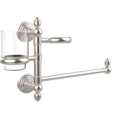 Prestige Skyline Collection Hair Dryer Holder and Organizer in Satin Nickel