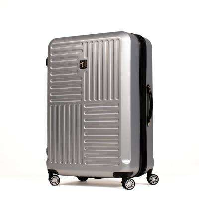 Urban Grid 25 in. Silver ABS Hard Case Upright Spinner Rolling Luggage Suitcase