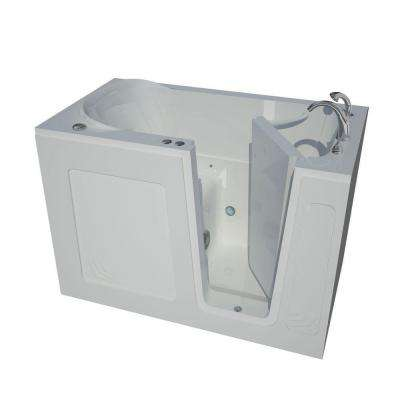 Nova Heated 4.5 ft. Walk-In Air Jetted Tub in White with Chrome Trim