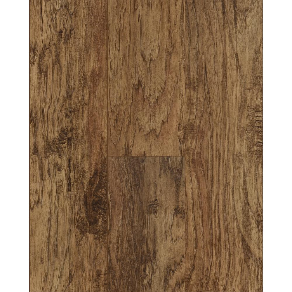 Trafficmaster Saratoga Hickory Wheat 7 Mm Thick X 7 2/3 In. Wide X 50 5/8 In. Length Laminate Flooring (24.17 Sq. Ft. / Case), Medium