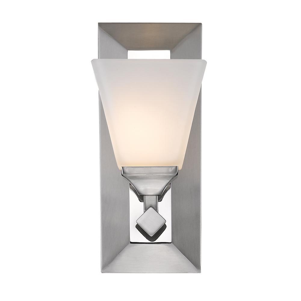 Gentry 1-Light Pewter Bath Light