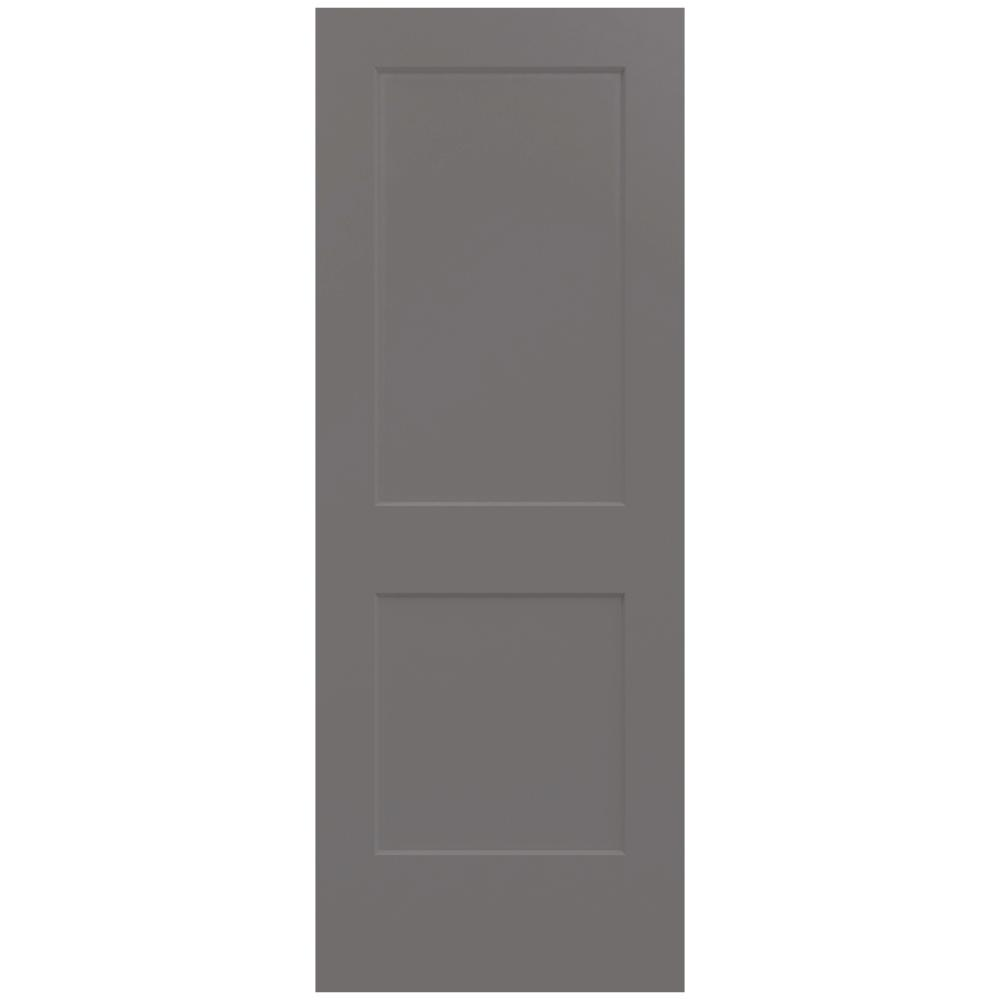 Jeld Wen 30 In X 80 In Monroe Weathered Stone Painted Smooth Solid