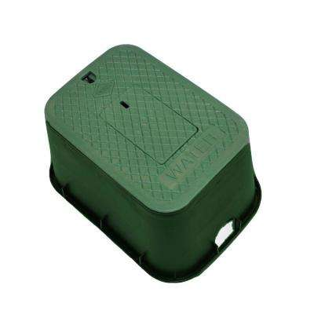 12 in. x 17 in. x 12 in. Deep Meter Box in Green Body Green Lid
