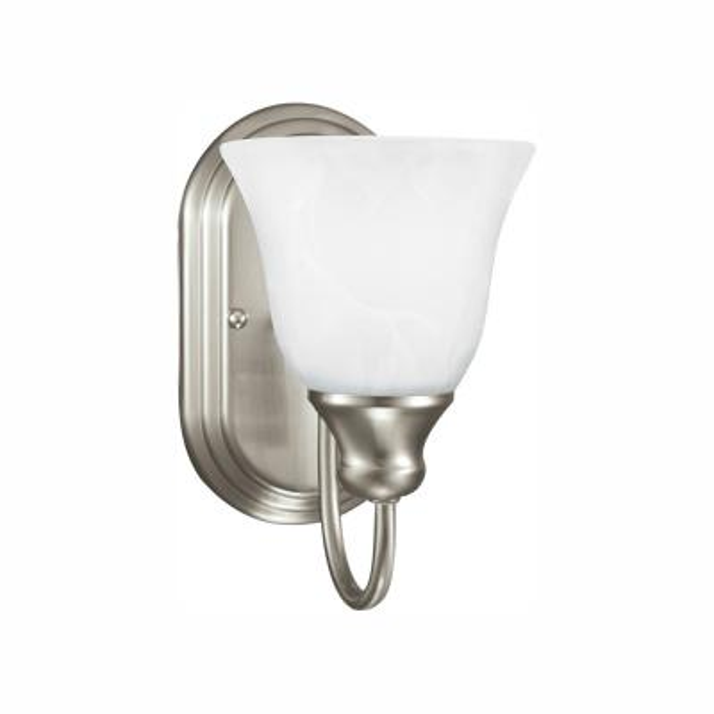 Windgate 1-Light Brushed Nickel Sconce with LED Bulb