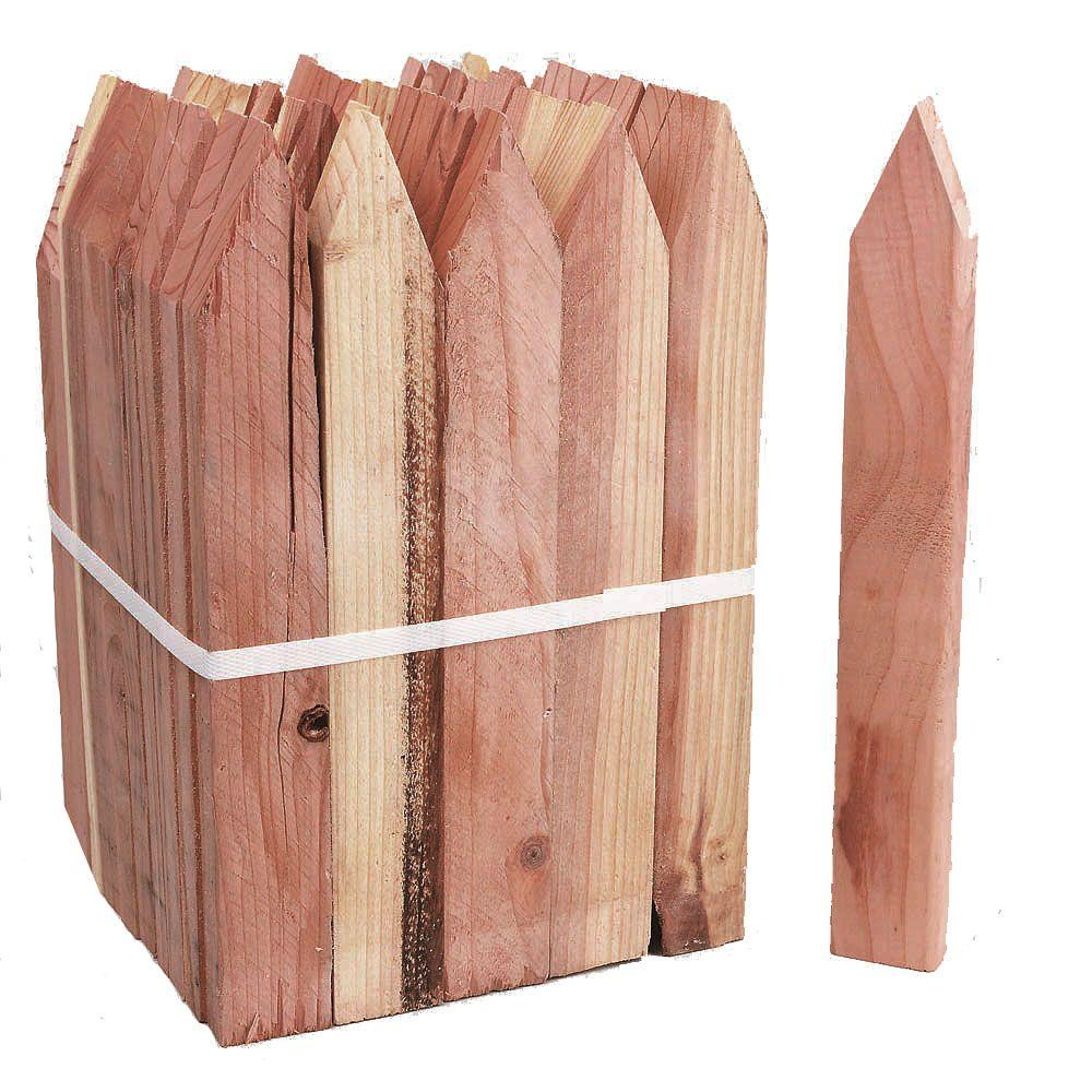 WeatherShield Grade Stake Redwood (Common: 1 in. x 2 in. x 12 in.; Actual: .5 in. x 1.5 in. x 11.5 in.)