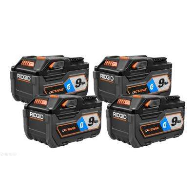 18-Volt OCTANE Bluetooth 9.0 Ah Battery (4-Pack)