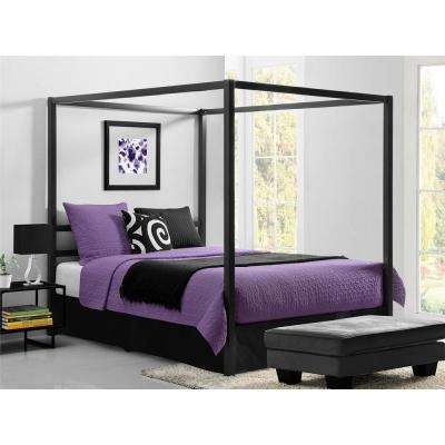 Modern Canopy Metal Queen Size Bed Frame in Gunmetal Grey. Canopy   Beds   Headboards   Bedroom Furniture   The Home Depot