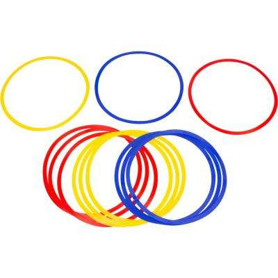 16 in. Dia Speed and Agility Training Rings in Multi-Color (Set of 12)