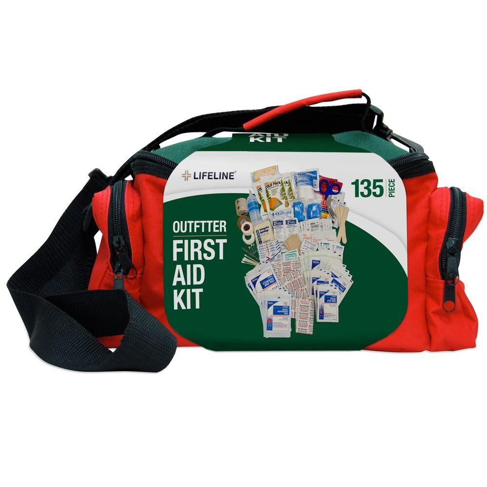 Lifeline 135-Piece ANSI Outfitter Emergency First Aid Kit Duffel Bag