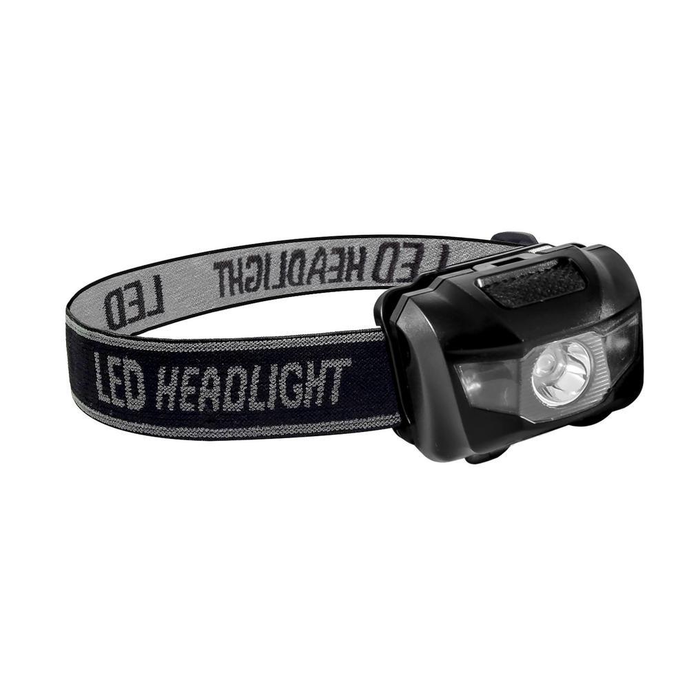 3-Watt Head Light with Adjustable Band in Black