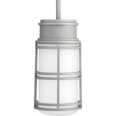 Bell Collection 1-Light Textured Graphite LED Outdoor Flushmount