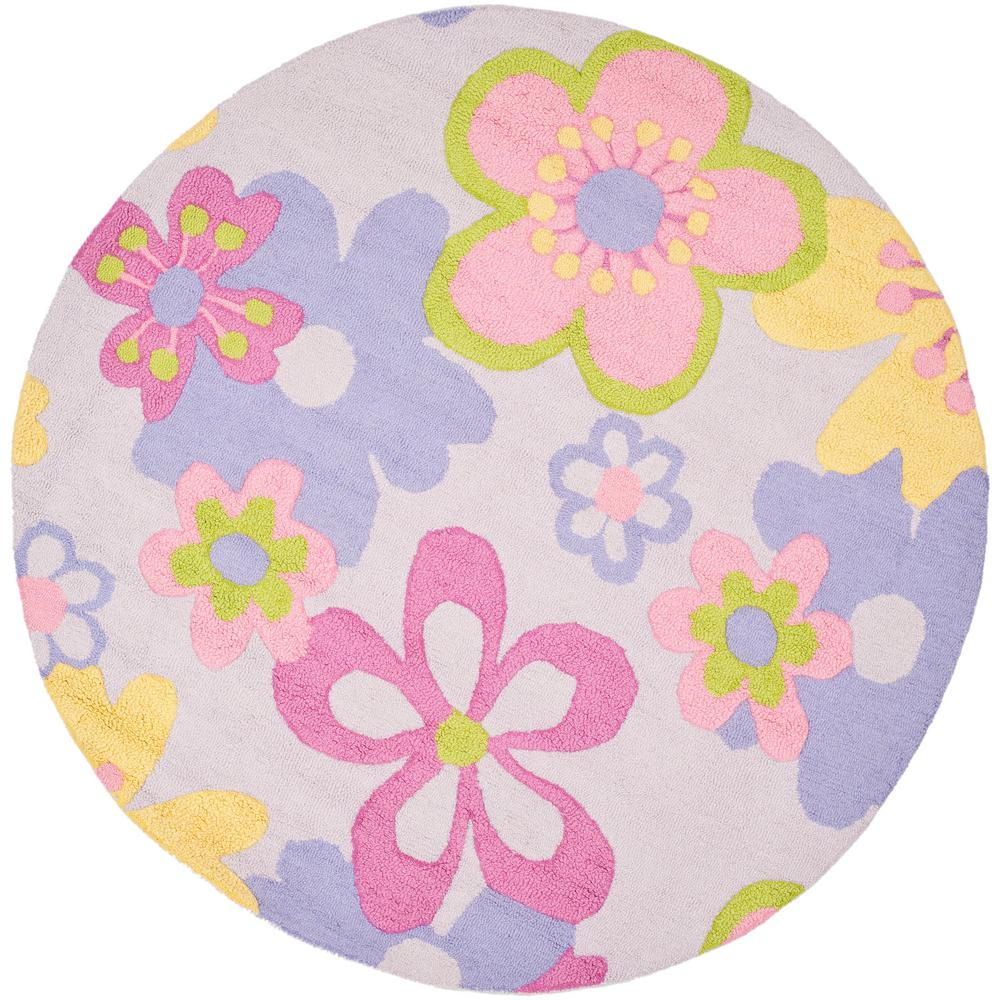 Safavieh Kids Multi 6 Ft. X 6 Ft. Round Area Rug-SFK314A