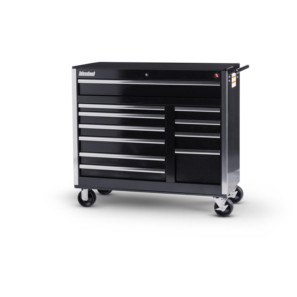 International 42 in. Tech Series 11-Drawer Cabinet, Black