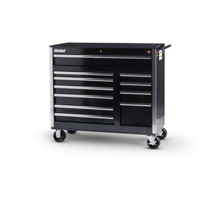 Tech Series 42 in. 11-Drawer Roller Cabinet Tool Chest in Black