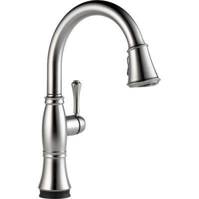 Cassidy Touch Single-Handle Pull-Down Sprayer Kitchen Faucet in Arctic Stainless