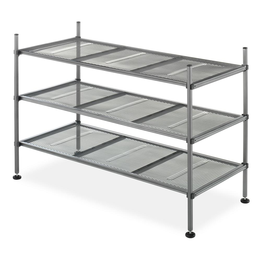 mesh shelving systems whitmor mesh collection 17 1 in h x 25 8 in w x 12 in d 3 tier metal storage shelves in 9033